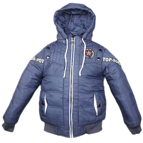 Boys Full Sleeves Jacket - Blue