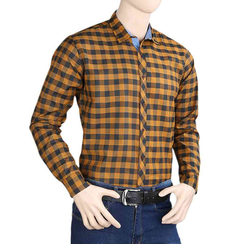 Men's Casual Shirt - Mustard