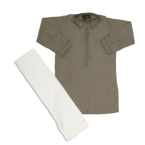 Boys Embroidered Shalwar Suit - Green