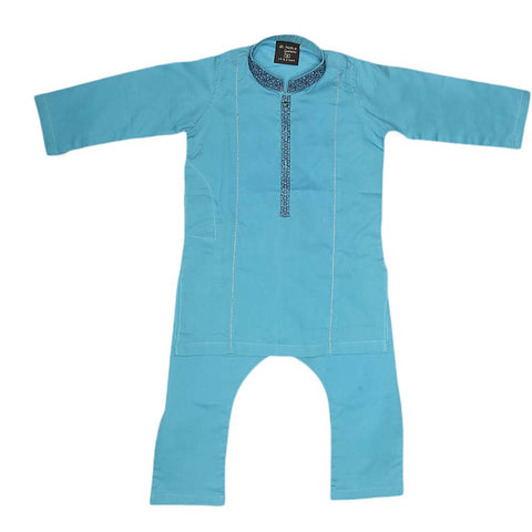 Boys Embroidered Shalwar Kameez - Sky Blue