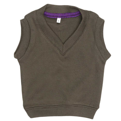 Newborn Boys Sleeveless Sweater - Drak Green
