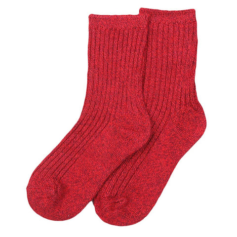 Kids Socks - Maroon