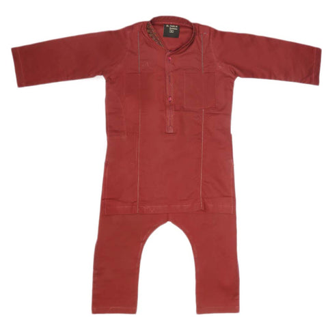 Boys Embroidered Shalwar Kameez - Maroon