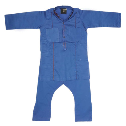 Boys Embroidered Shalwar Kameez - Royal Blue