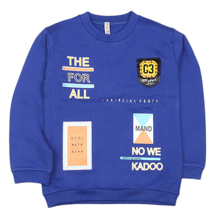 Boys Full Sleeves Sweatshirt - Blue