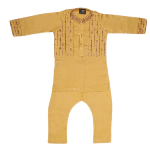 Boys Embroidered Shalwar Suit - Mustard