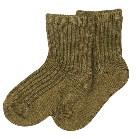 Kids Socks - Olive Green