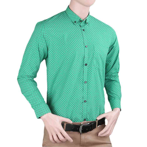 Men's Business Casual Shirt - Green - test-store-for-chase-value