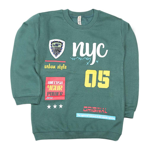 Boys Full Sleeves Sweatshirt - Green