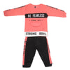 Boys Fleece Full Sleeves Suit - Pink