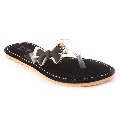 Girls Fancy Slippers - Black