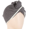 Women's Bath Towel Cap - Dark Grey