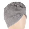 Women's Bath Towel Cap - Grey