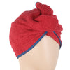 Women's Bath Towel Cap - Red