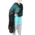 Women's Multani Embroidered Dupatta - Black