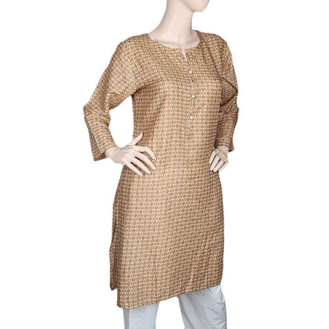 Women's Printed Kurti - Light Brown