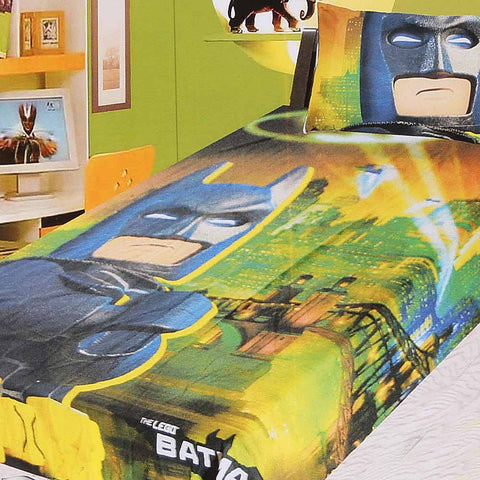 Lego Batman Printed Single Bed Sheet For Kids