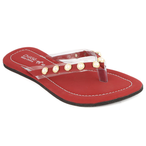 Girls Slippers J-527-A - Maroon