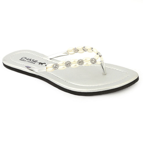Girls Slippers J-528-A - Silver