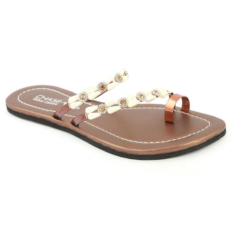 Girls Slippers J-530-A - Copper