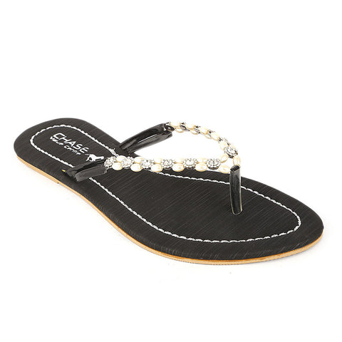 Women's Slipper (KL-05) - Black - test-store-for-chase-value