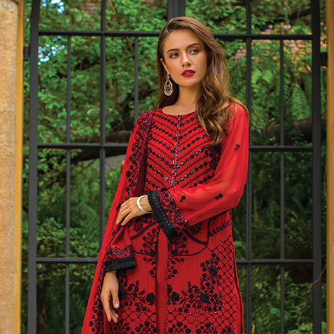 Kalyan Embroidered Chiffon 3 Piece Un-Stitched Suit - 5