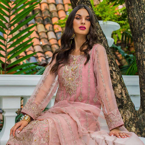 Kalyan Embroidered Chiffon 3 Piece Un-Stitched Suit - 8