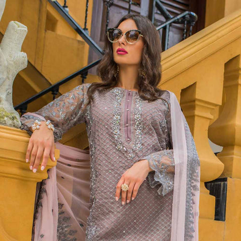 Kalyan Embroidered Chiffon 3 Piece Un-Stitched Suit - 9