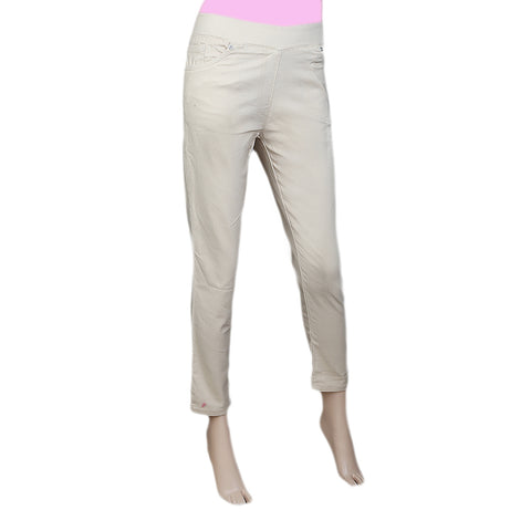 Women's Jegging - Beige