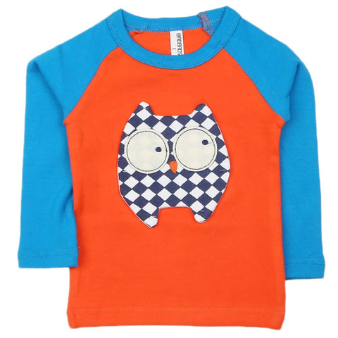 Boys Full Sleeves T-Shirt - Orange