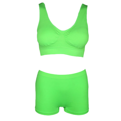 Women's Sports Bra & Panty Set - Green - test-store-for-chase-value