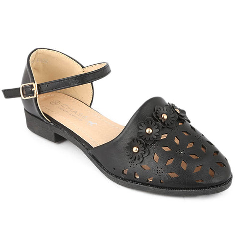 Girls Fancy Pumps (K122) - Black