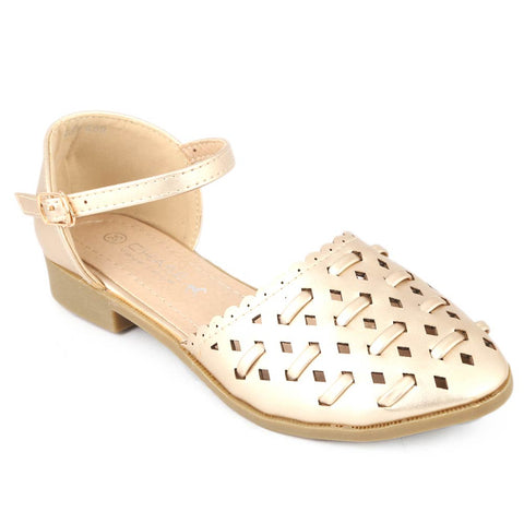 Girls Fancy Pumps (M235-K89) - Golden