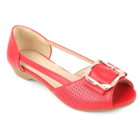 Girls Fancy Pumps (M531-7) - Red