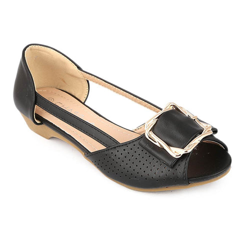 Girls Fancy Pumps (M531-7) - Black