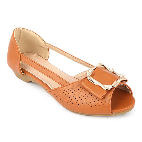 Girls Fancy Pumps (M531-7) - Camel