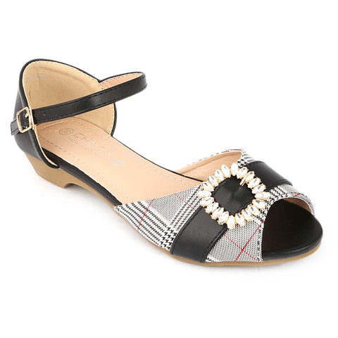 Girls Fancy Pumps (H23) - Black