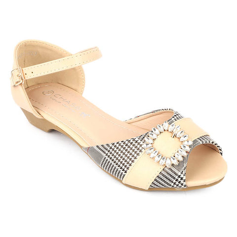 Girls Fancy Pumps (H23) - Beige