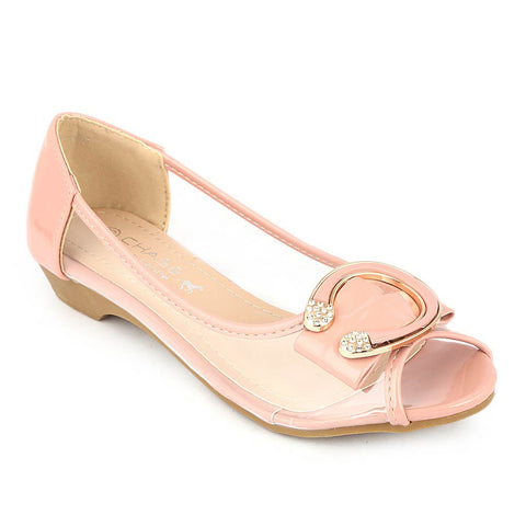 Girls Fancy Pumps (H86) - Pink