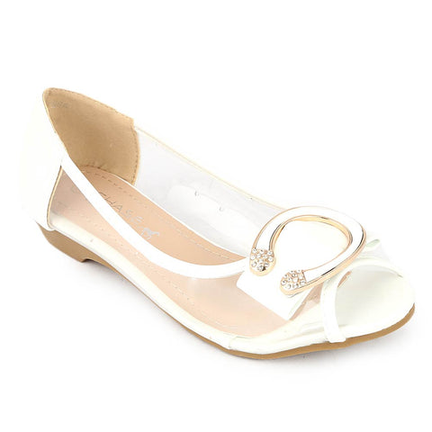 Girls Fancy Pumps (H86) - White