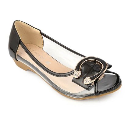 Girls Fancy Pumps (H86) - Black