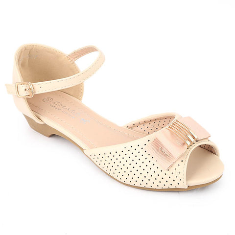 Girls Fancy Pumps (K927) - Beige