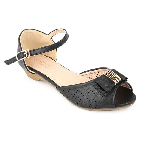 Girls Fancy Pumps (K927) - Black