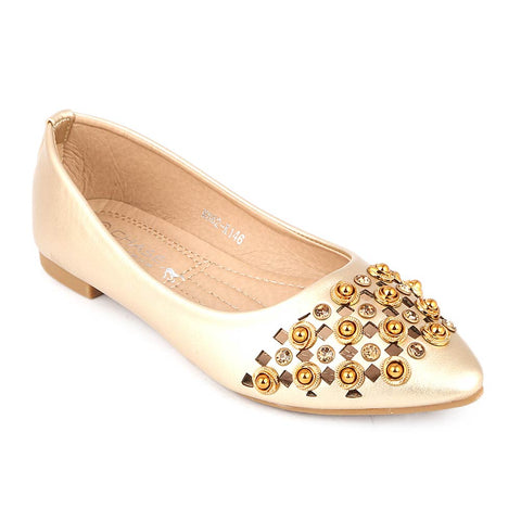 Girls Fancy Pumps (M662-K146) - Golden