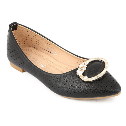 Girls Fancy Pumps (M662-K171) - Black