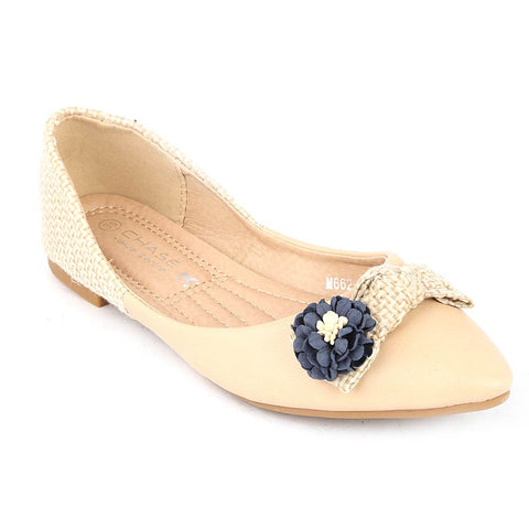 Girls Fancy Pumps (M662-K261) - Beige