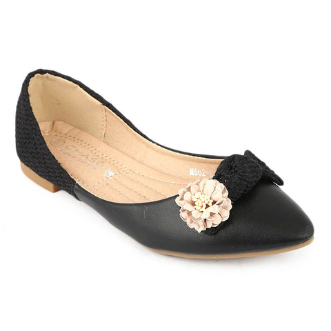 Girls Fancy Pumps (M662-K261) - Black