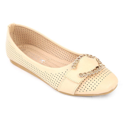 Girls Fancy Pumps (M810-K73) - Beige