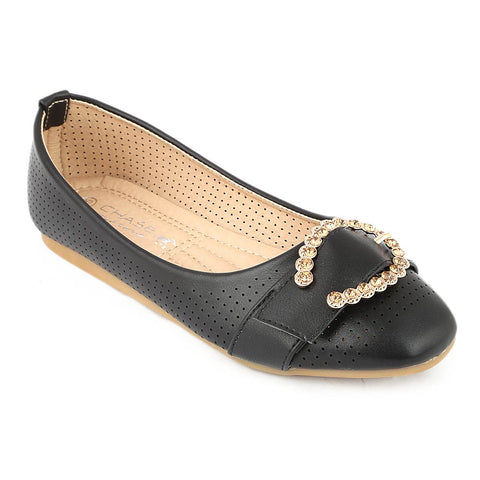 Girls Fancy Pumps (M810-K73) - Black