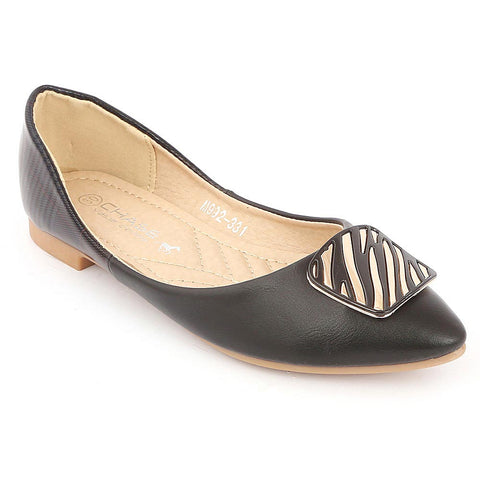 Girls Fancy Pumps (S992-304) - Black